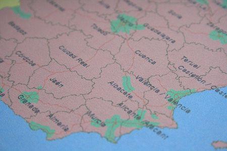 spanje gebieden op kaart